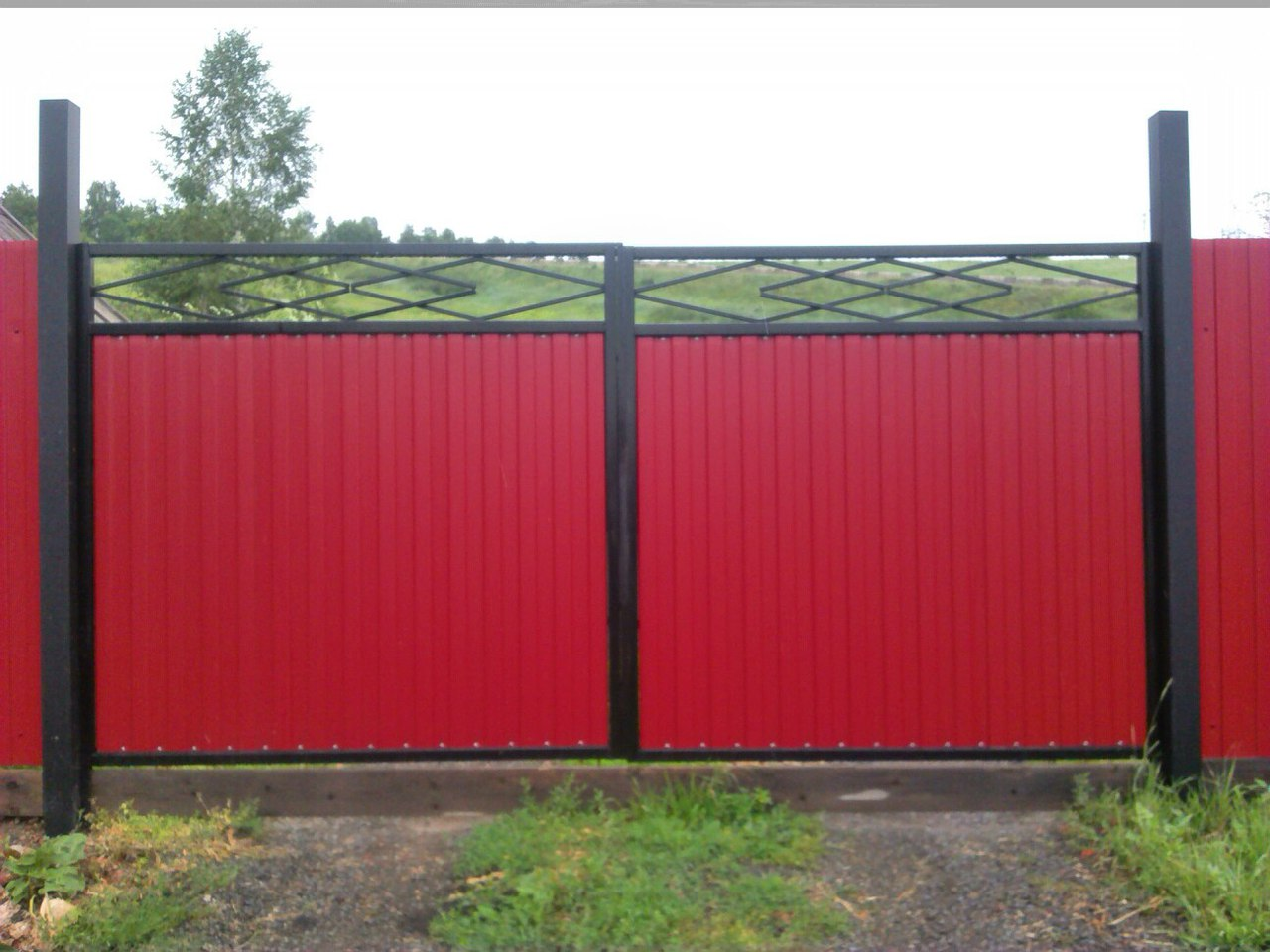 Как сделать ворота в заборе фото